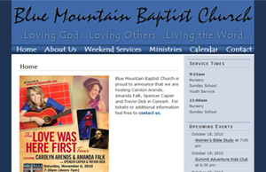 Good Website Design, Blue Mountain Baptist Church