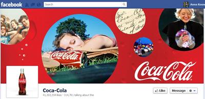 Coca Cola's Facebook Page